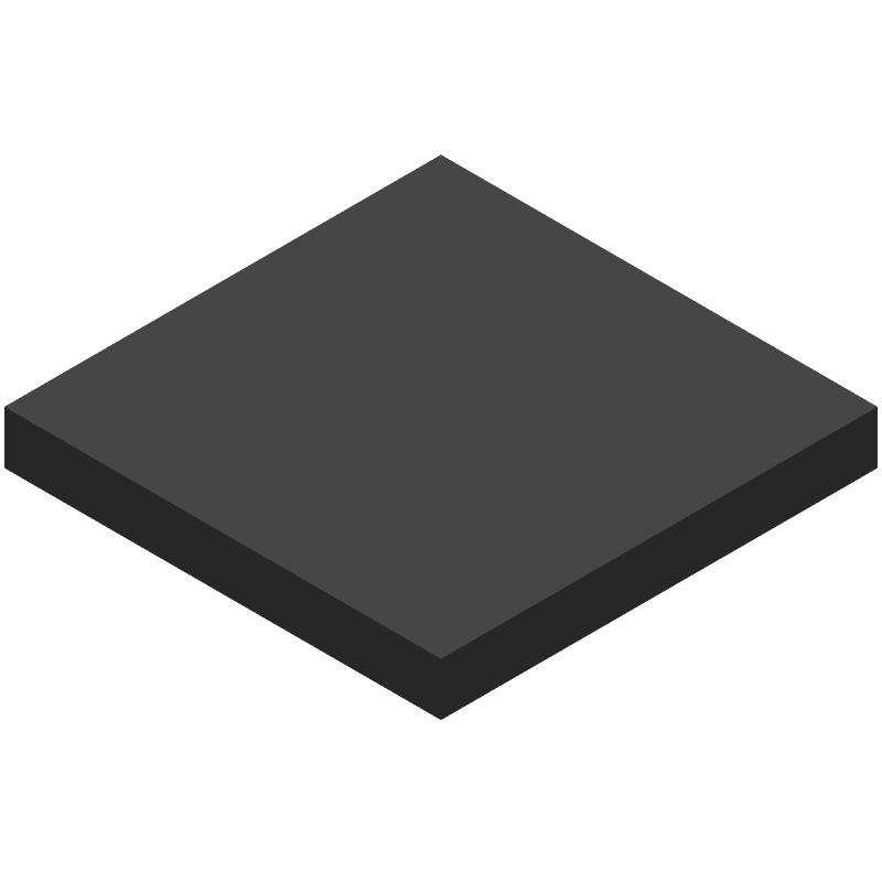 Nordic Semiconductor nRF52840-QIAA-T (Other) 3D model isometric projection.