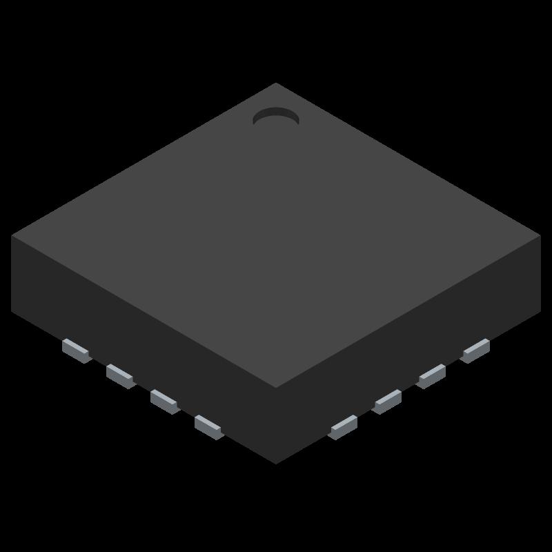 LTC6400CUD-26#PBF - Linear Technology - 3D model - Quad Flat No-Lead - UD(QFN)