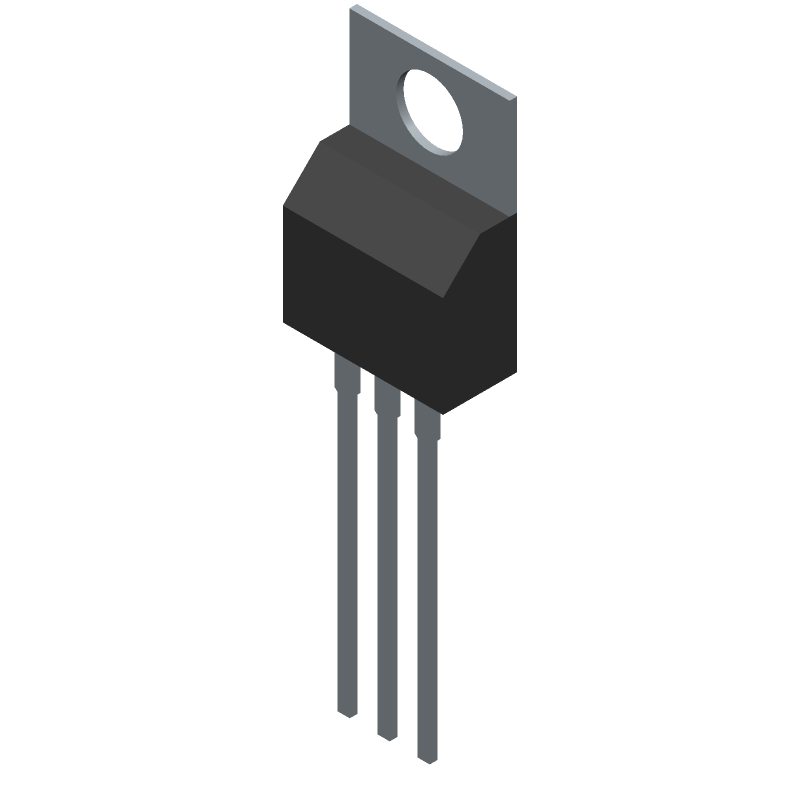 LM7805CT - ON Semiconductor - 3D model - Transistor Outline, Vertical - LM7805CT_A