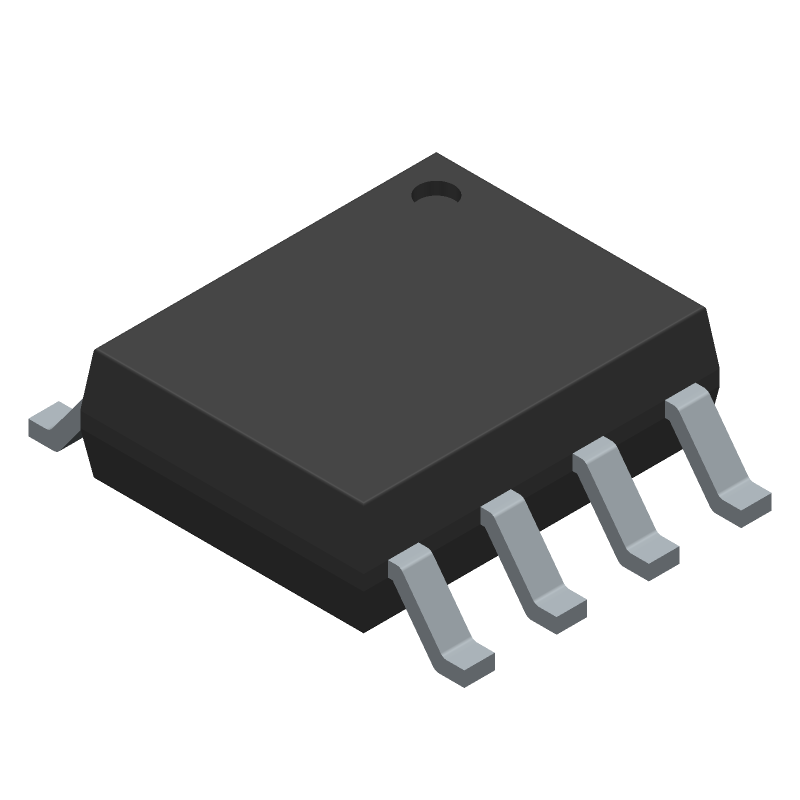 ON Semiconductor LM358MX (Small Outline Packages) 3D model isometric projection.