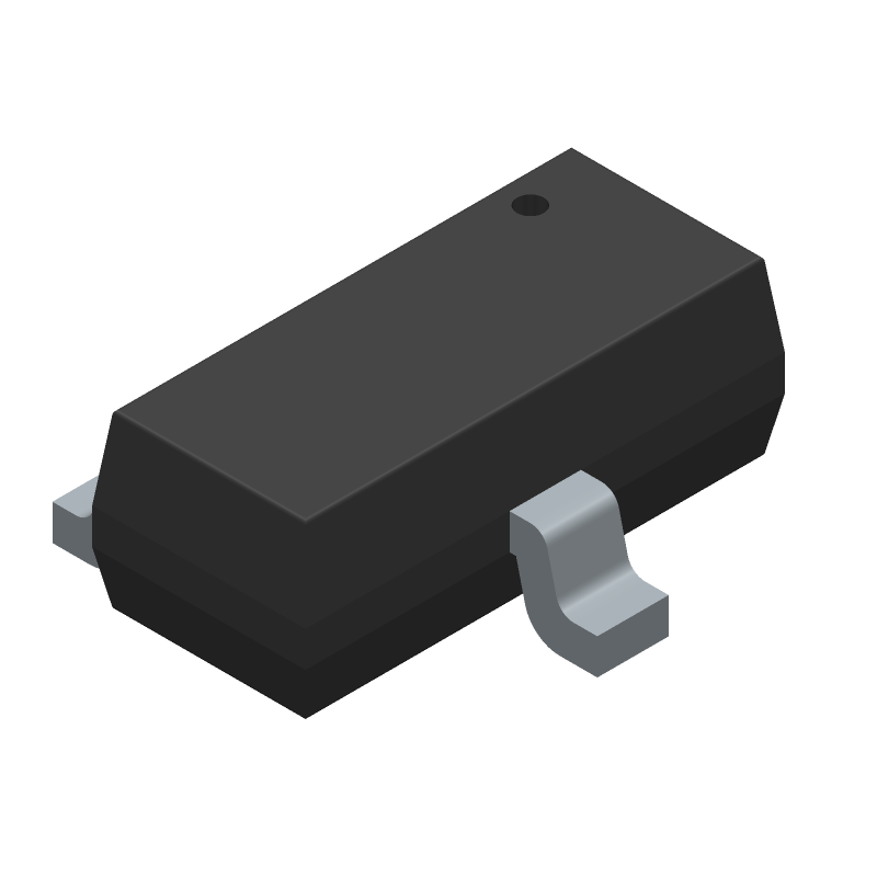 FDN340P - ON Semiconductor - 3D model - SOT23 (3-Pin) - FDN340P