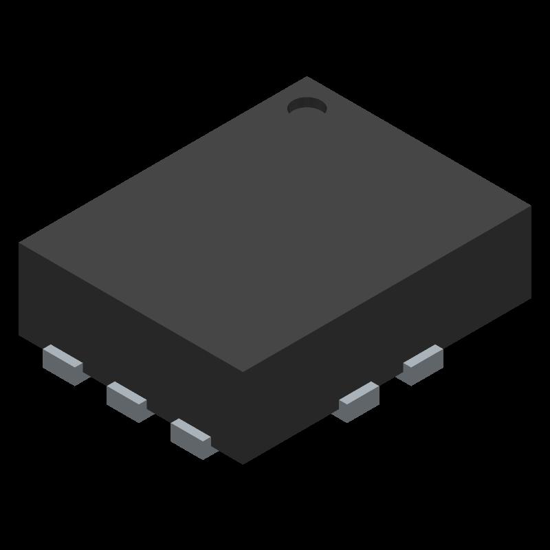 FSUSB42UMX - ON Semiconductor - 3D model - Quad Flat No-Lead - UQFN10 1.4x1.8, 0.4P CASE 523BC ISSUE O