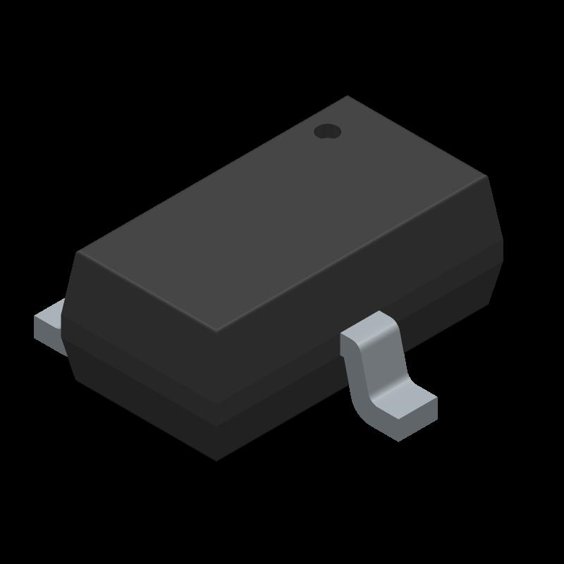 AO3400 - Alpha & Omega Semiconductors - 3D model - SOT23 (3-Pin) - SOT-23-3L