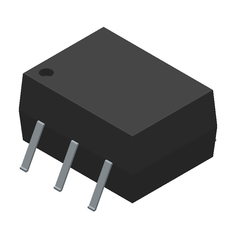 MOC3021SM - ON Semiconductor - 3D model - Small Outline Packages - PDIP6 8.51x6.35, 2.54P-