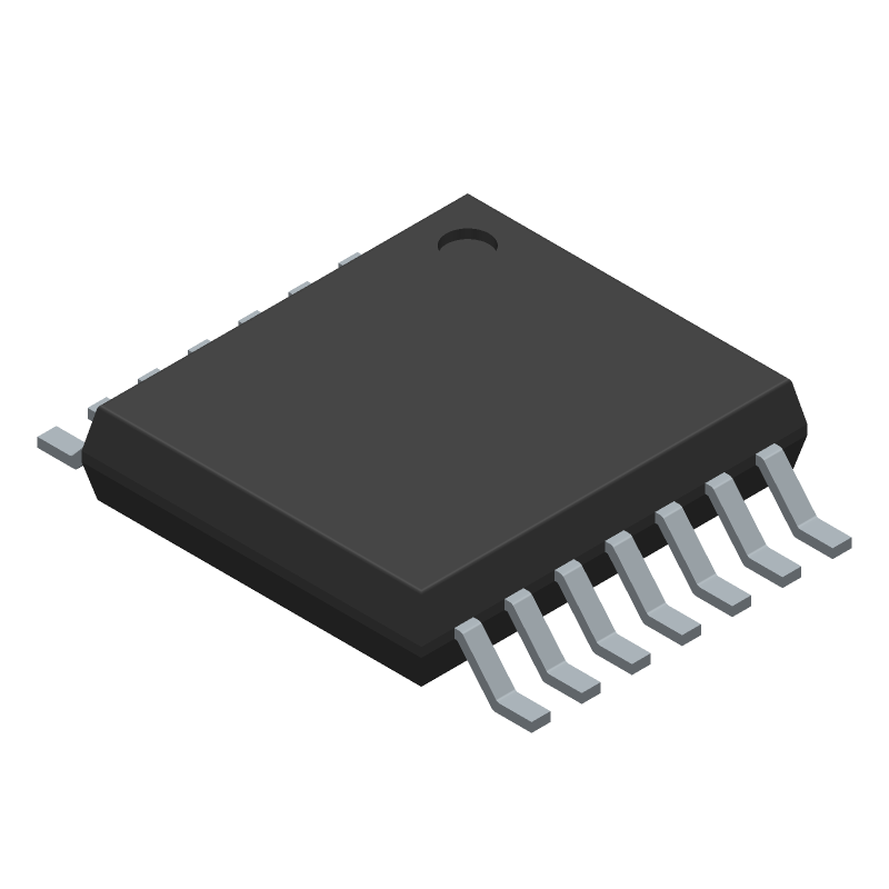 ON Semiconductor LM324ADTBR2G (Small Outline Packages) 3D model isometric projection.