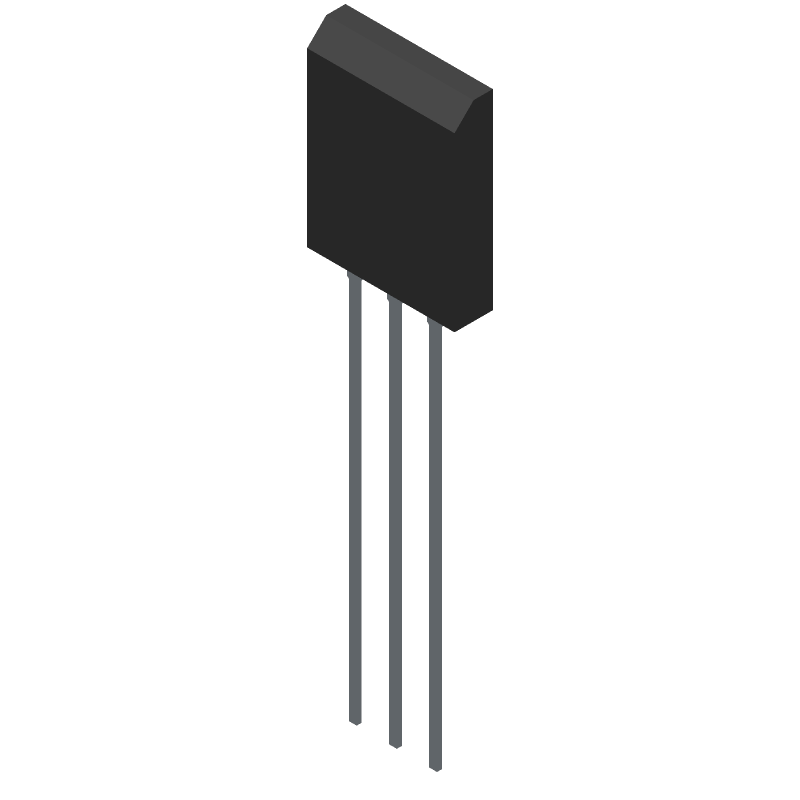2SC5200OTU - ON Semiconductor - 3D model - Transistor Outline, Vertical - 2SC5200OTU-1