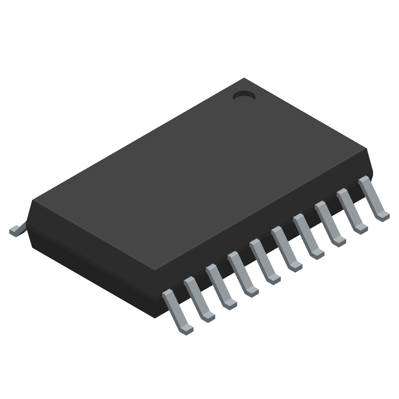 Infineon ITS724GFUMA1 (Small Outline Packages) 3D model isometric projection.