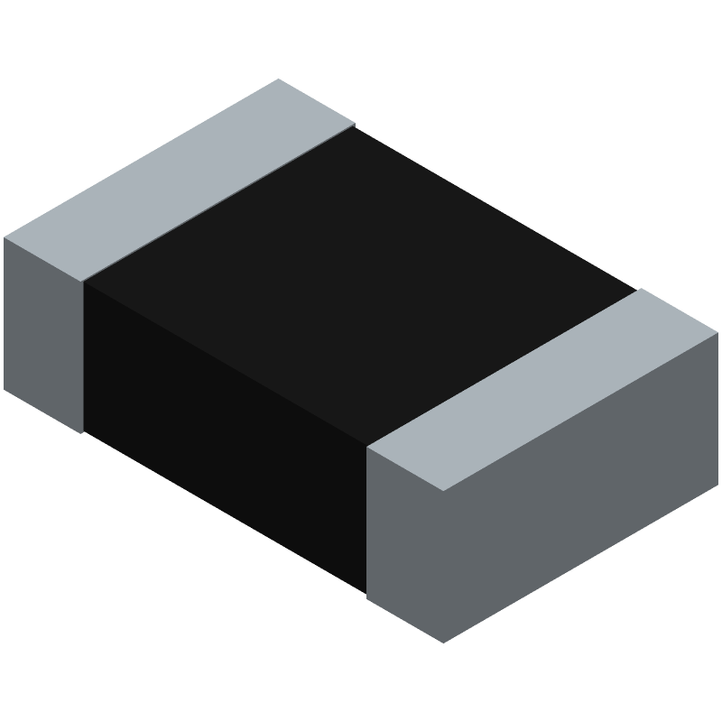 Vishay CRCW080510K0FKEAC (Resistor Chip) 3D model isometric projection.