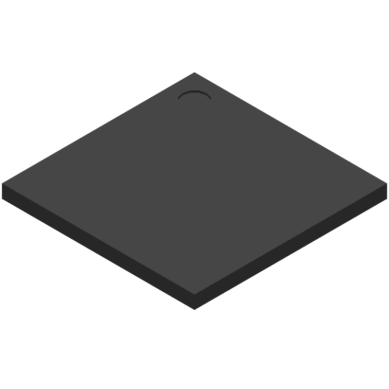 Microchip ATSAMA5D27C-D1G-CU (BGA) 3D model isometric projection.
