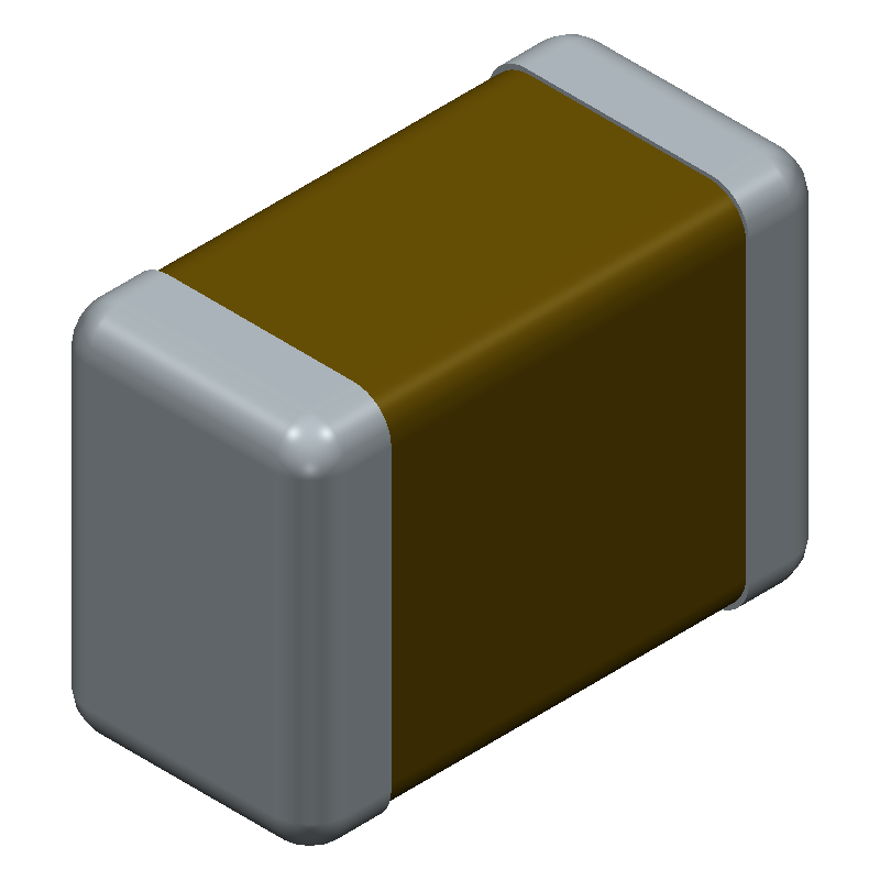 AVX 12065D106KAT2A (Capacitor Chip Non-polarised) 3D model isometric projection.