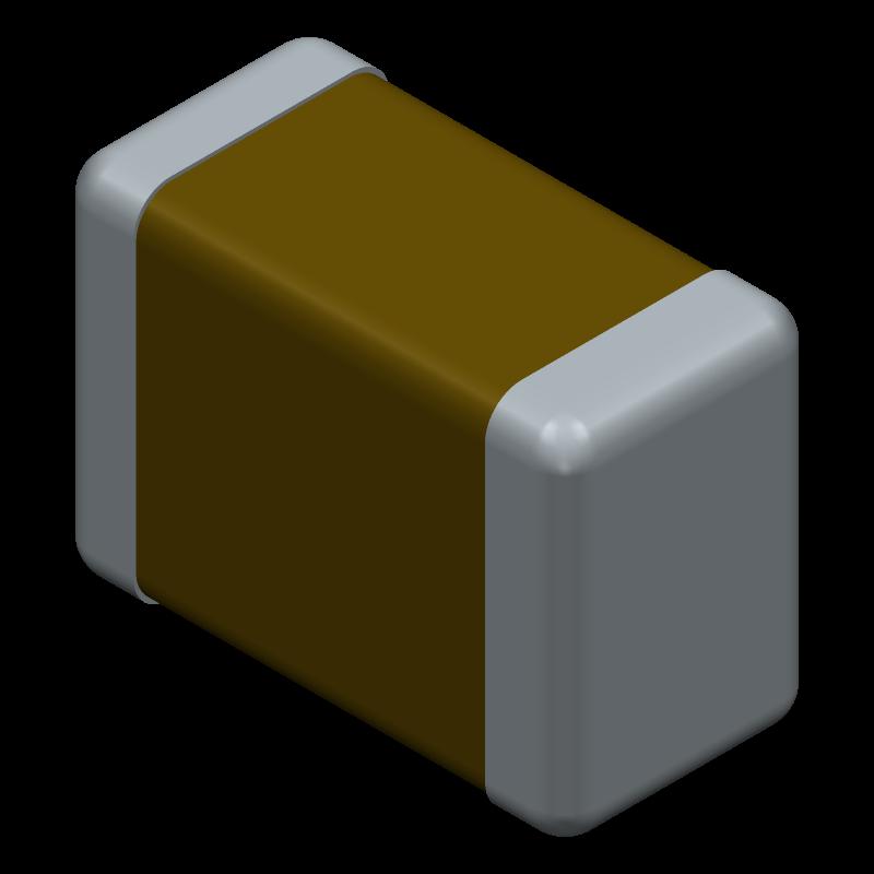 1206DD106KAT2A - AVX - 3D model - Capacitor Chip Non-polarised - 1206DD106KAT2A-1