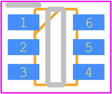 MT3608 - Aerosemi PCB footprint - SOT23 (6-Pin) - TSOT23-6/SOT23-6
