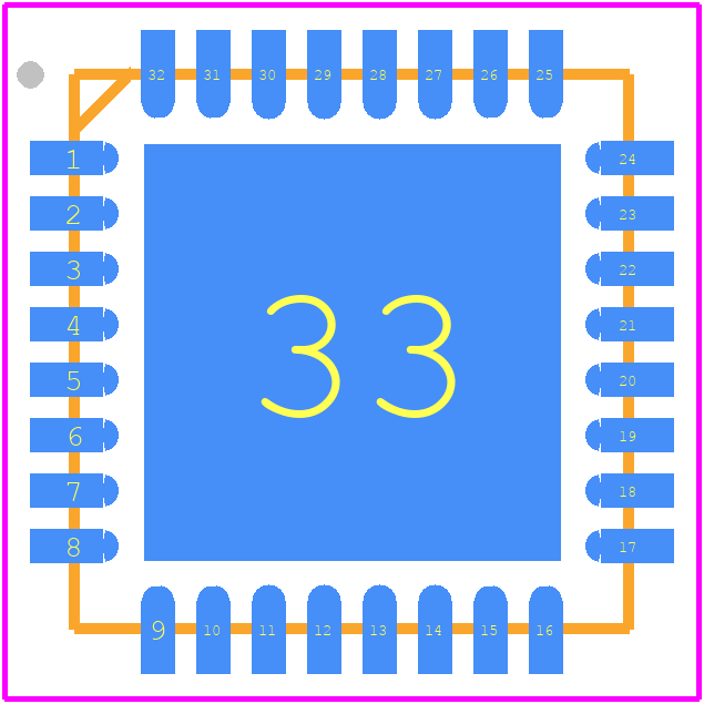 ESP8266EX - Espressif Systems PCB footprint - Quad Flat No-Lead - QFN32
