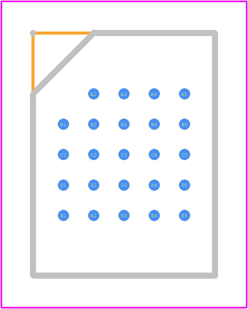 MT25QL02GCBB8E12-0SIT - Micron PCB footprint - BGA - 24-Ball T-PBGA (5 × 5 ball grid array) – 6mm × 8mm
