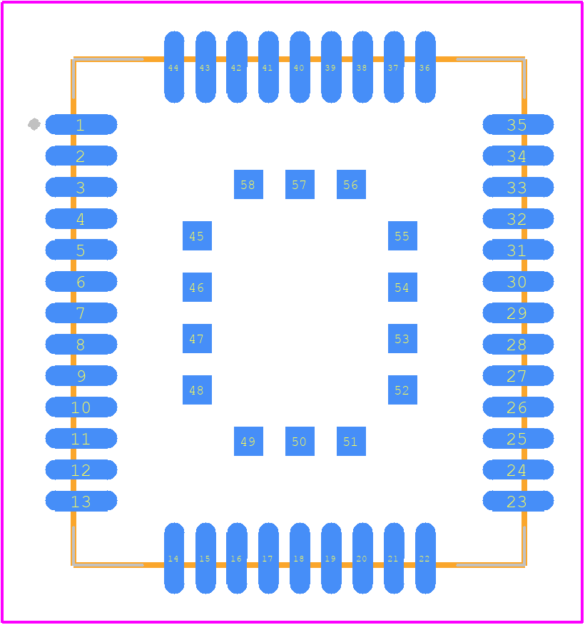 PCB Footprint for BC66NA-04-STD