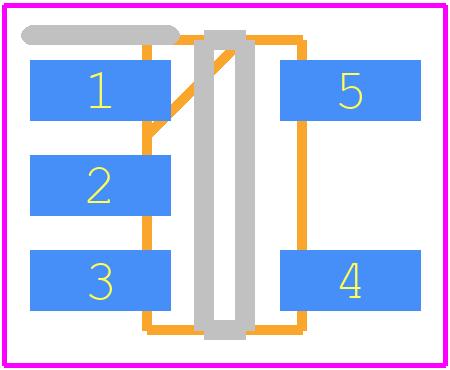 MCP73831T-2ATI/OT - Microchip PCB footprint - SOT23 (5-Pin) - 5-Lead (OT) SOT-23