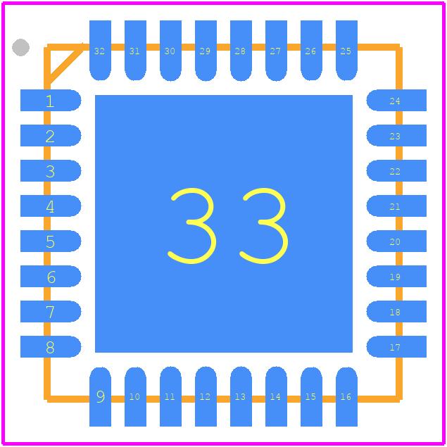 AD7195 - Analog Devices PCB footprint - Quad Flat No-Lead - CP-32-11 (LFCSP)