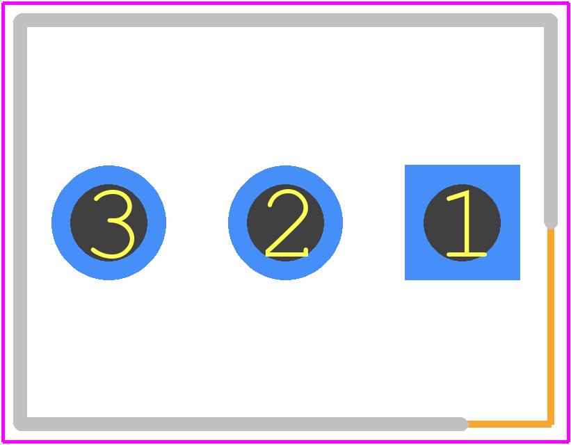 22-27-2031 - Molex PCB footprint - Header, Shrouded - 22-27-2031
