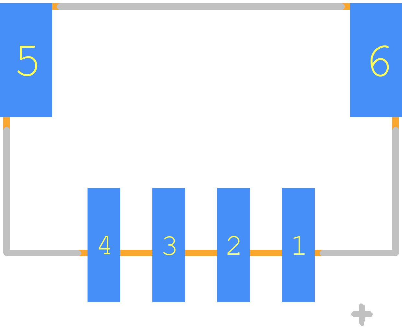 S4B-PH-SM4-TB(LF)(SN) - JST (JAPAN SOLDERLESS TERMINALS) PCB footprint - Other - S4B-PH-SM4-TB