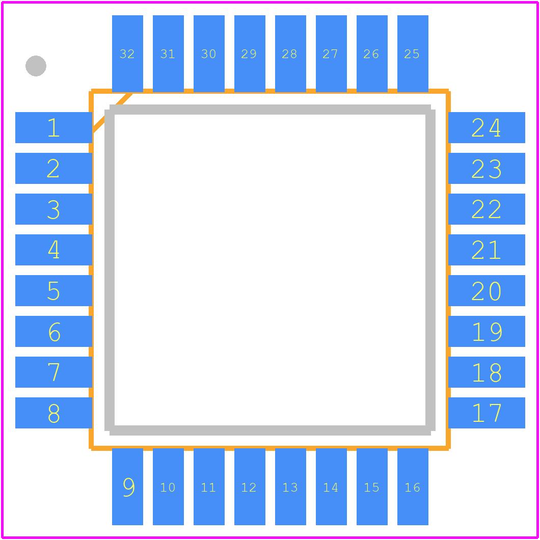 ATMEGA328P-AN - Microchip PCB footprint - Quad Flat Packages - TQFP 32