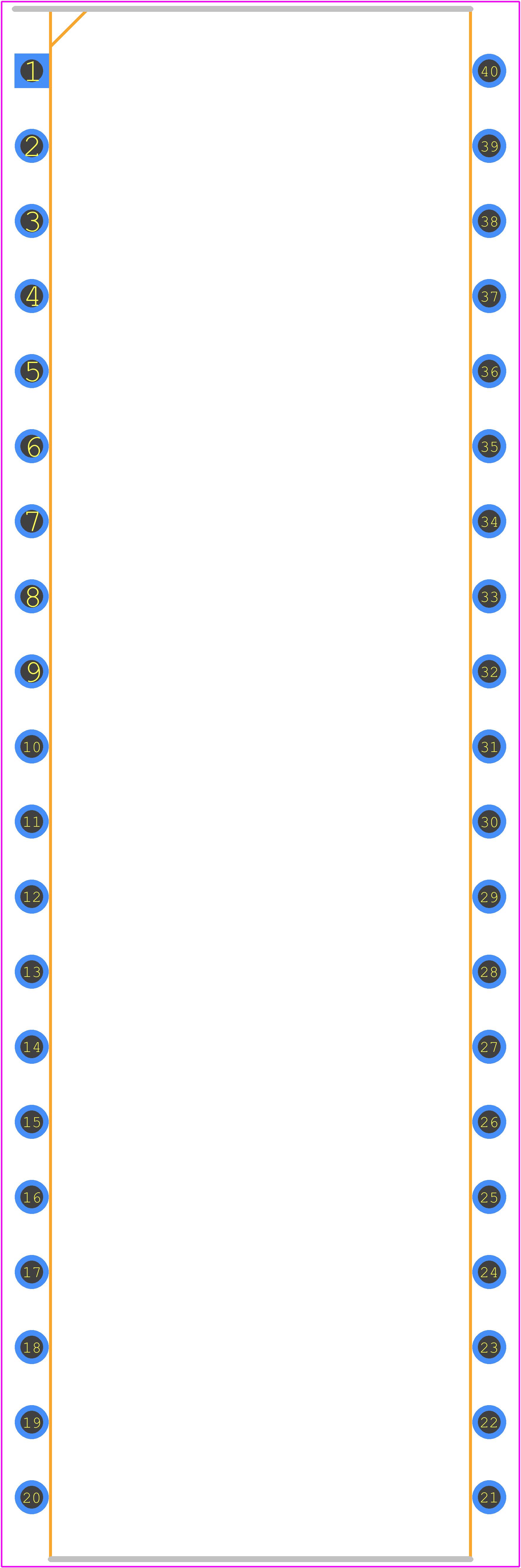 PIC18F4550-I/P - Microchip PCB footprint - Other - DIP254P1524X635-40