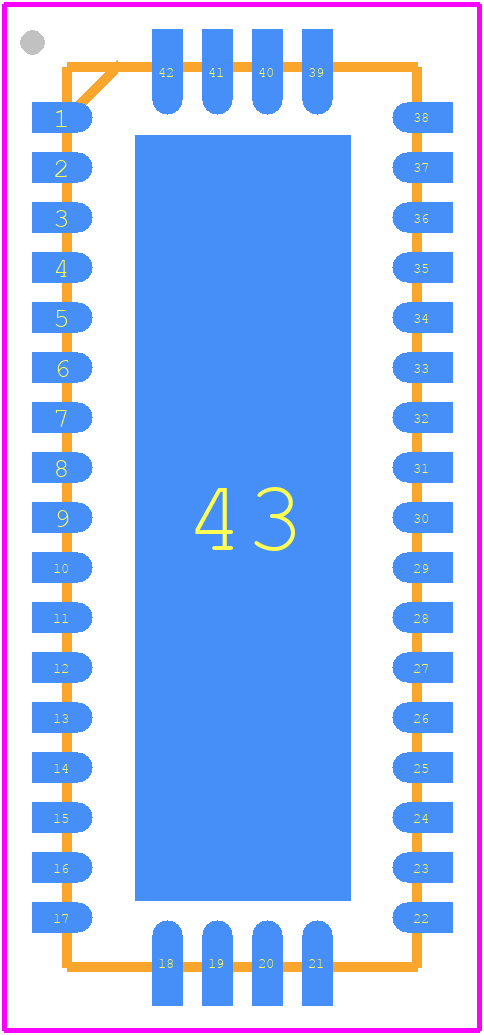 TS3DV642A0RUAR - Texas Instruments PCB footprint - Quad Flat No-Lead - PWQFN-N42
