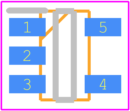 AP2112K-3.3TRG1 - Diodes Inc. PCB footprint - SOT23 (5-Pin) - SOT-23-5