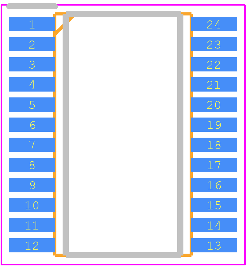 MAX11270EUG+ - Maxim Integrated PCB footprint - Small Outline Packages - Max 21-0066_M (24 TSSOP)