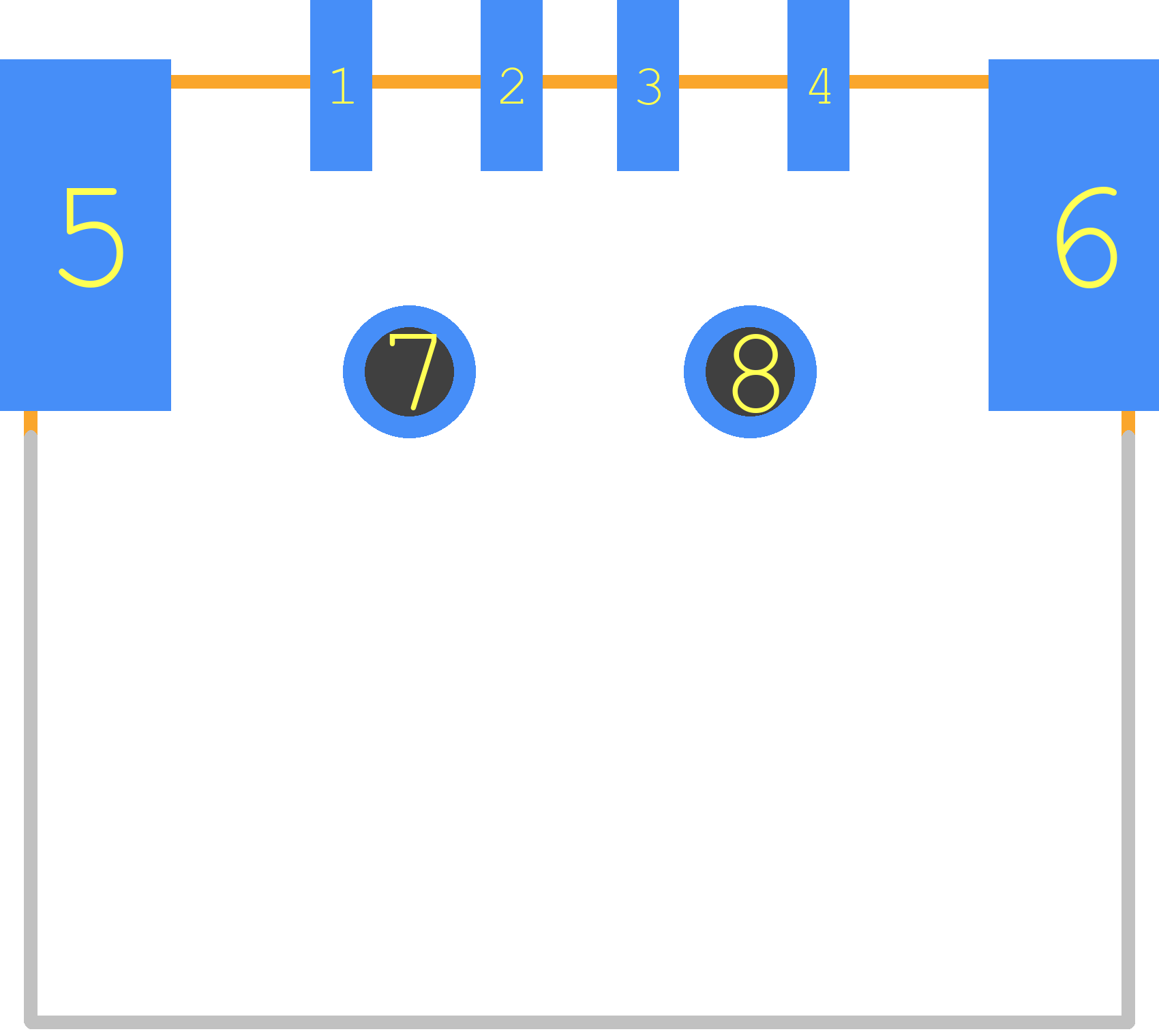 USB-A-S-RA - MULTICOMP PCB footprint - Other - USB-A-S-