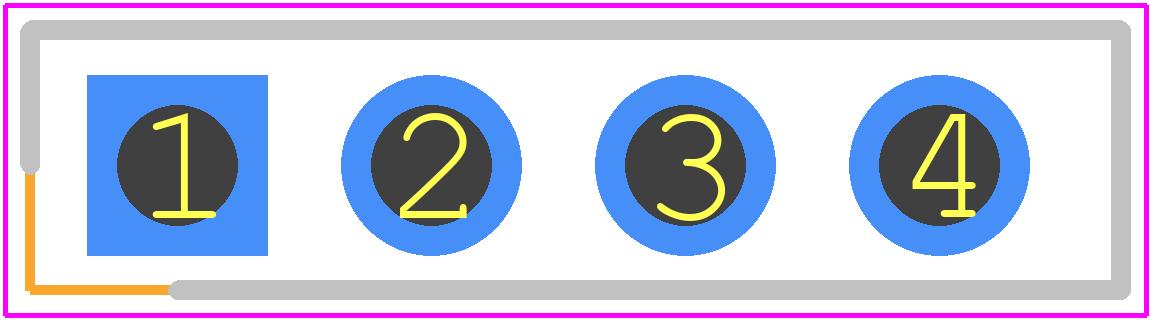 M20-7820442 - HARWIN PCB footprint - Header, Shrouded - M20-7820442