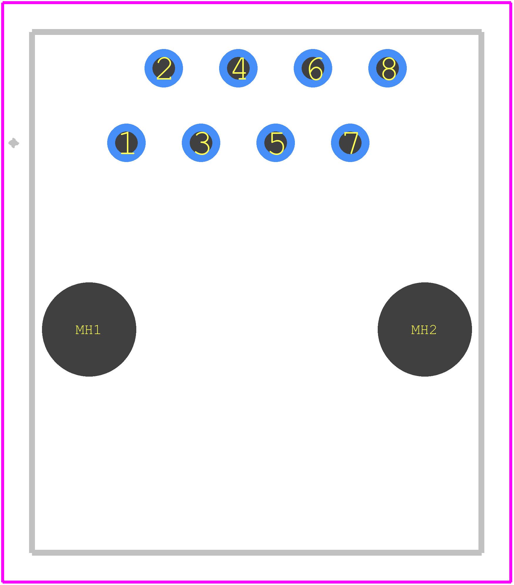 54602-908LF - FCI PCB footprint - Other - 54602-908LF