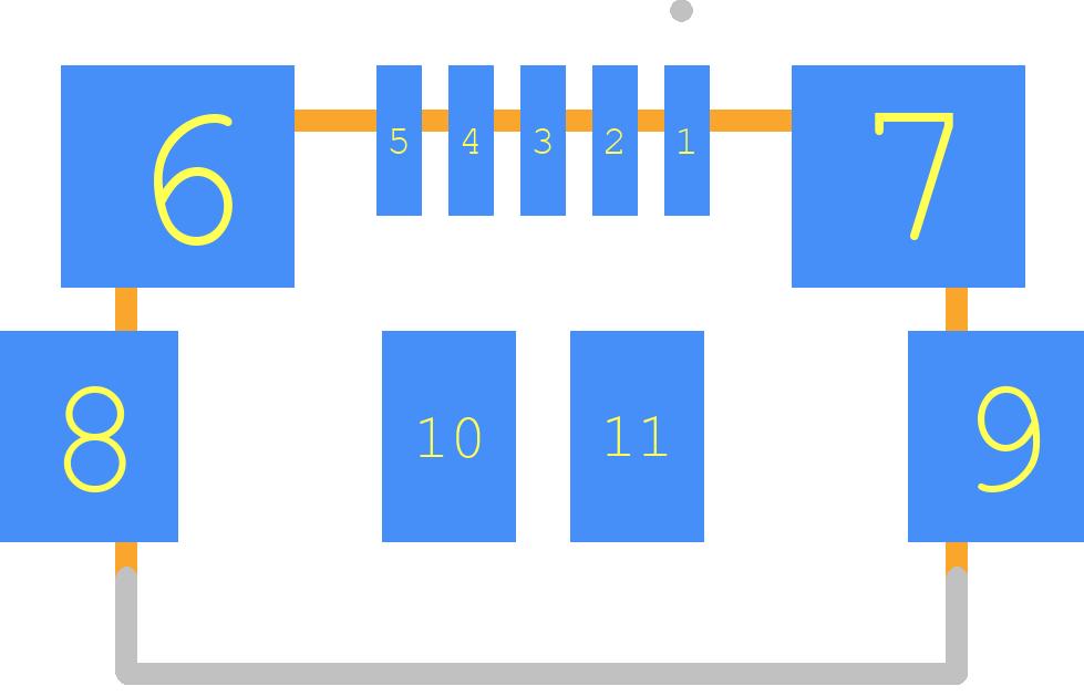 ZX62R-B-5P(30) - Hirose PCB footprint - Other - ZX62R-B-5P(30)