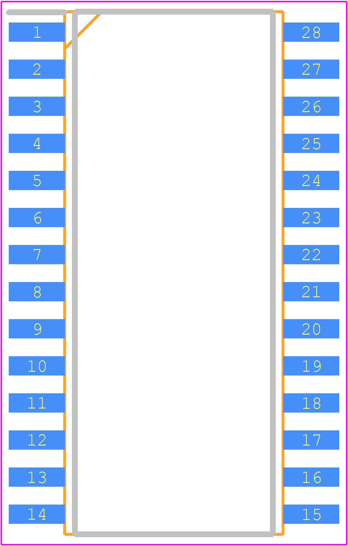 IR2132SPbF - Infineon PCB footprint - Small Outline Packages - 28-Lead SOIC (wide body)