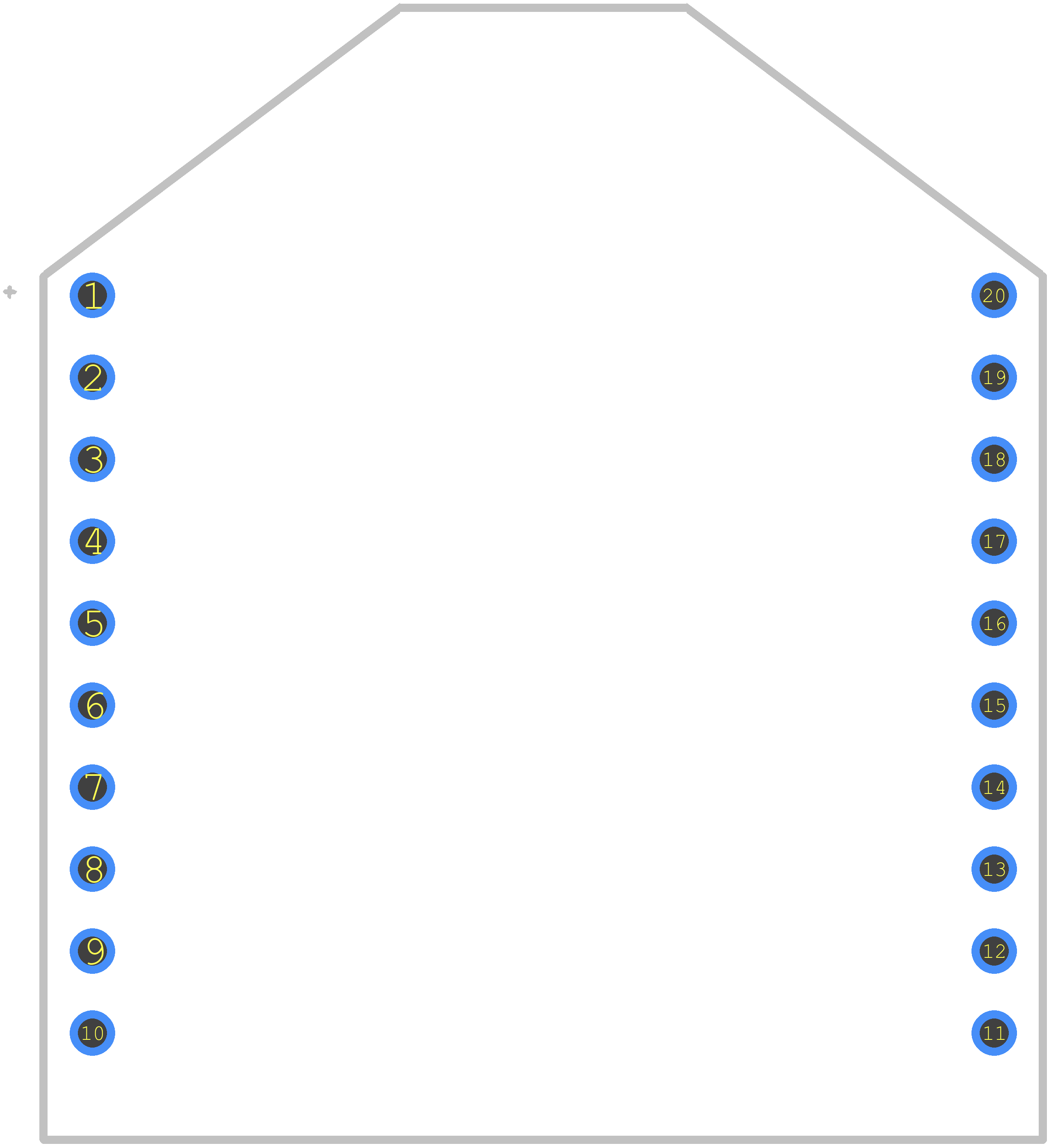 XB24CAPIT-001 - Digi International PCB footprint - Other - Digi XBee 802.15.4