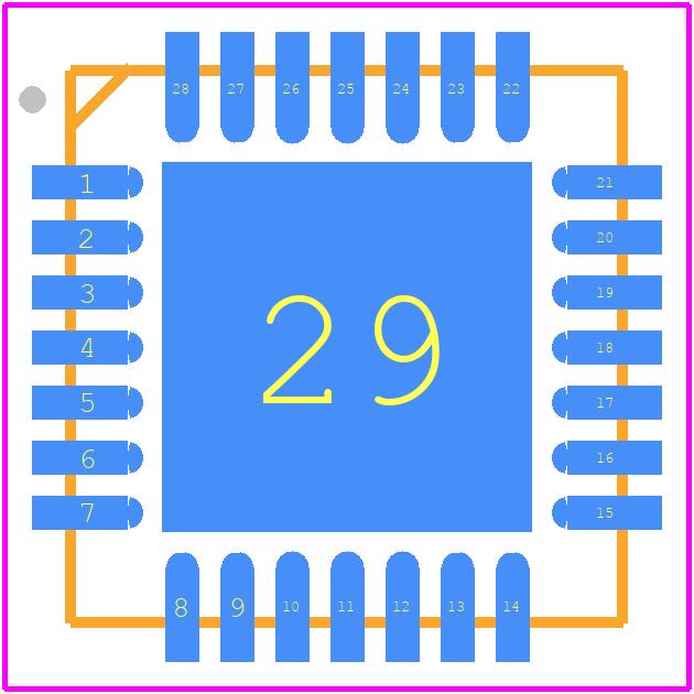 CP2102N-A01-GQFN28 - Silicon Labs PCB footprint - Quad Flat No-Lead - QFN-28_3
