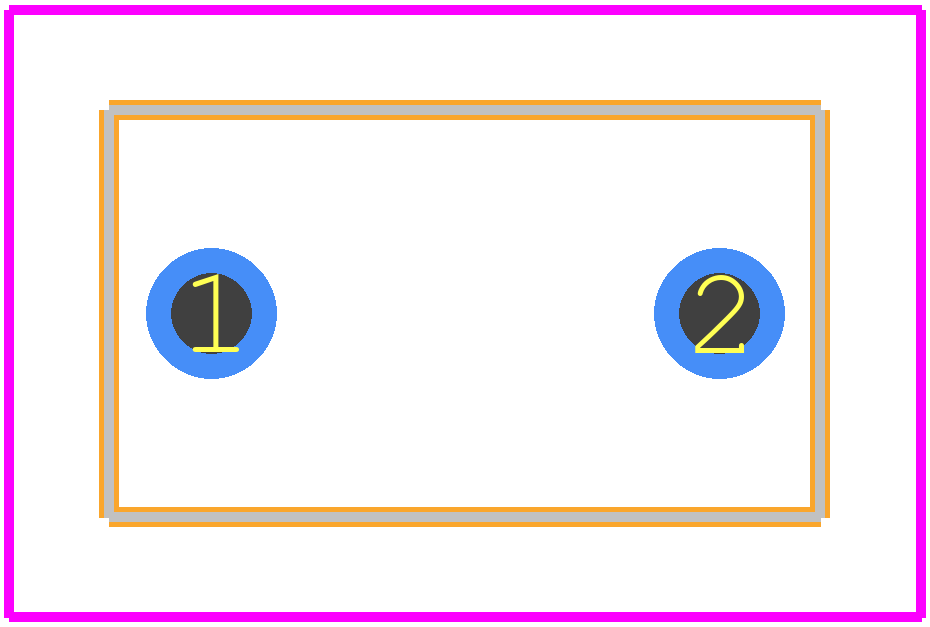 C330C105K5R5TA - Kemet PCB footprint - Other - C330 (7.11 x 4.07)