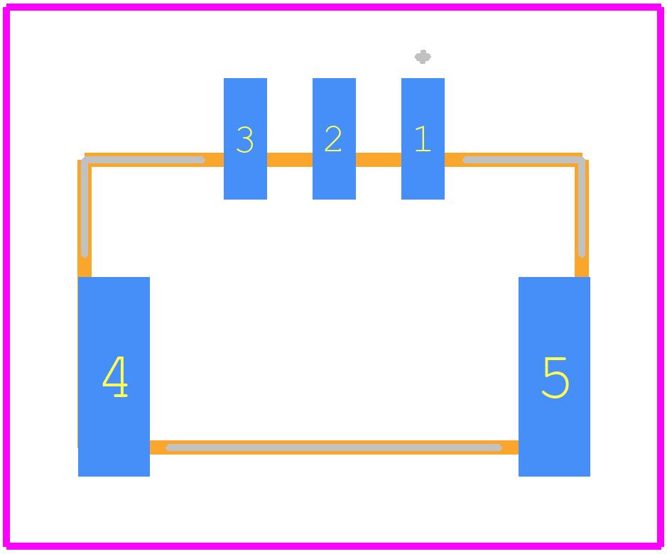 PCB footprint for JST (JAPAN SOLDERLESS TERMINALS) BM03B-GHS-TBT(LF)(SN) - Other