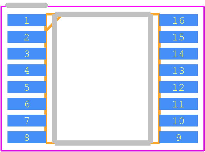 AD5695RARUZ - Analog Devices PCB footprint - Small Outline Packages - RU-16 (TSSOP)