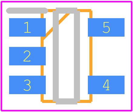 AP7331-33WG-7 - Diodes Inc. PCB footprint - SOT23 (5-Pin) - AP7331 300MA