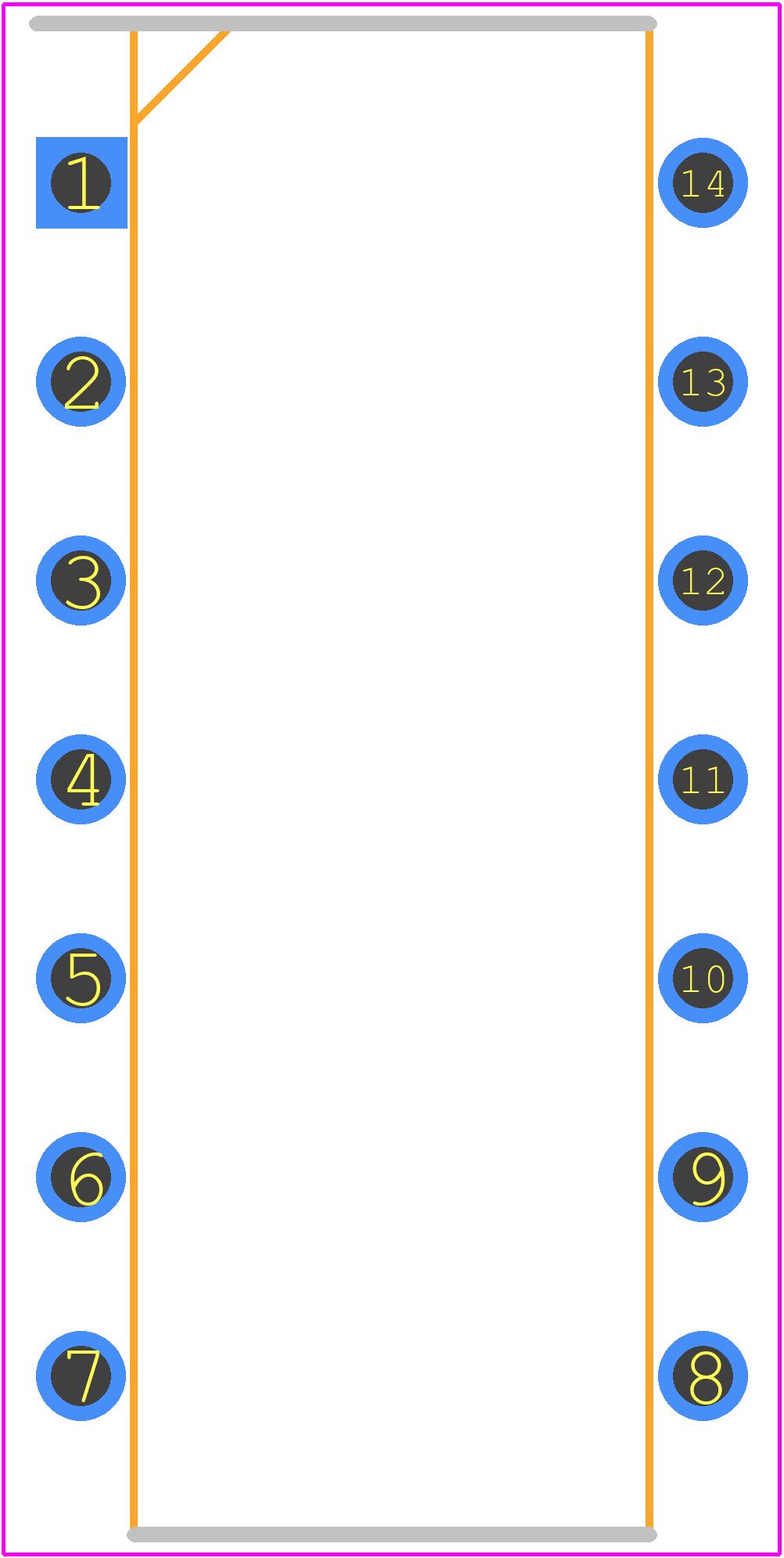 MCP4922-E/P - Microchip PCB footprint - Other - DIP254P762X533-14