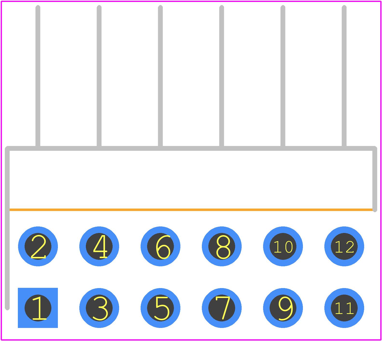 TSW-106-08-L-D-RA - SAMTEC PCB footprint - Other - TSW-106-08-L-D-RA
