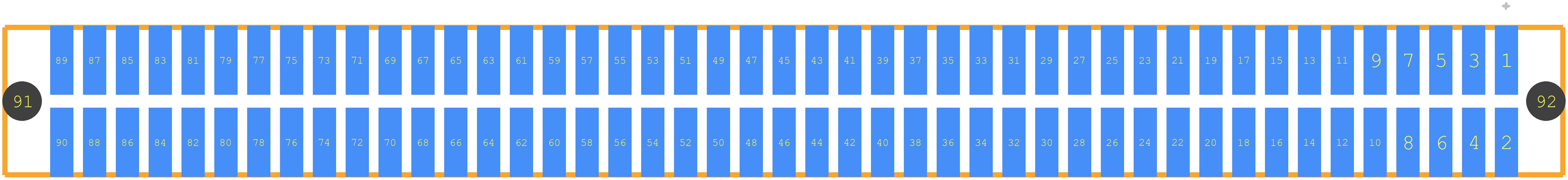 87409-145LF - FCI PCB footprint - Other - 87409-145LF