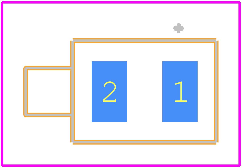 591-2504-013F - Dialight PCB footprint - Other - 591-2504-013F