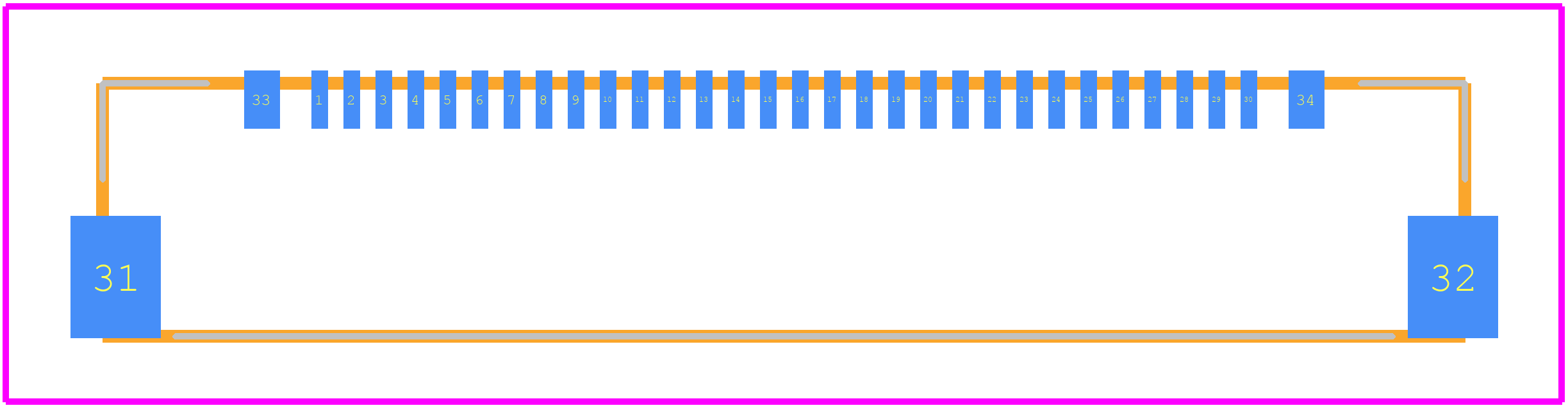 20455-030E-02 - I-Pex PCB footprint - Other - 20455-030E-02
