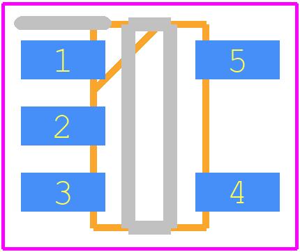 PCB footprint for Diodes Inc. AP3012KTR-G1 - SOT23 (5-Pin)