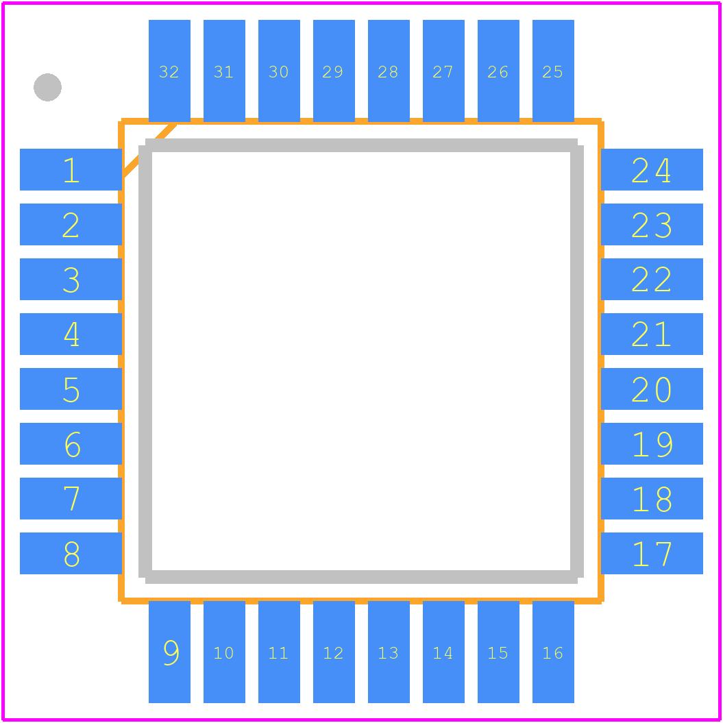 STM32F303K8T6 - STMicroelectronics PCB footprint - Quad Flat Packages - ST LQFP32