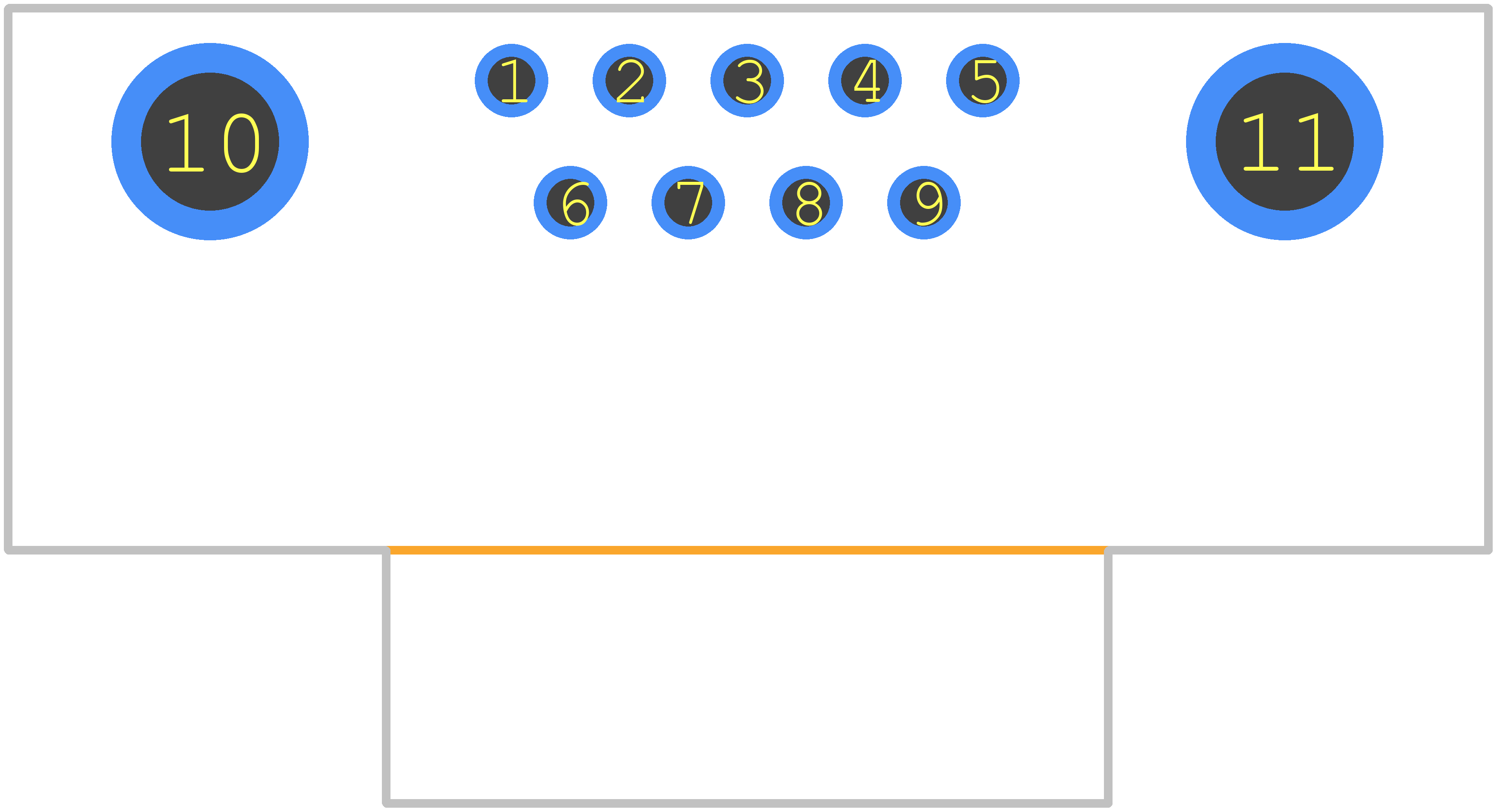 LD09P33E4GV00LF - FCI PCB footprint - Other - LD09P33E4GV00LF