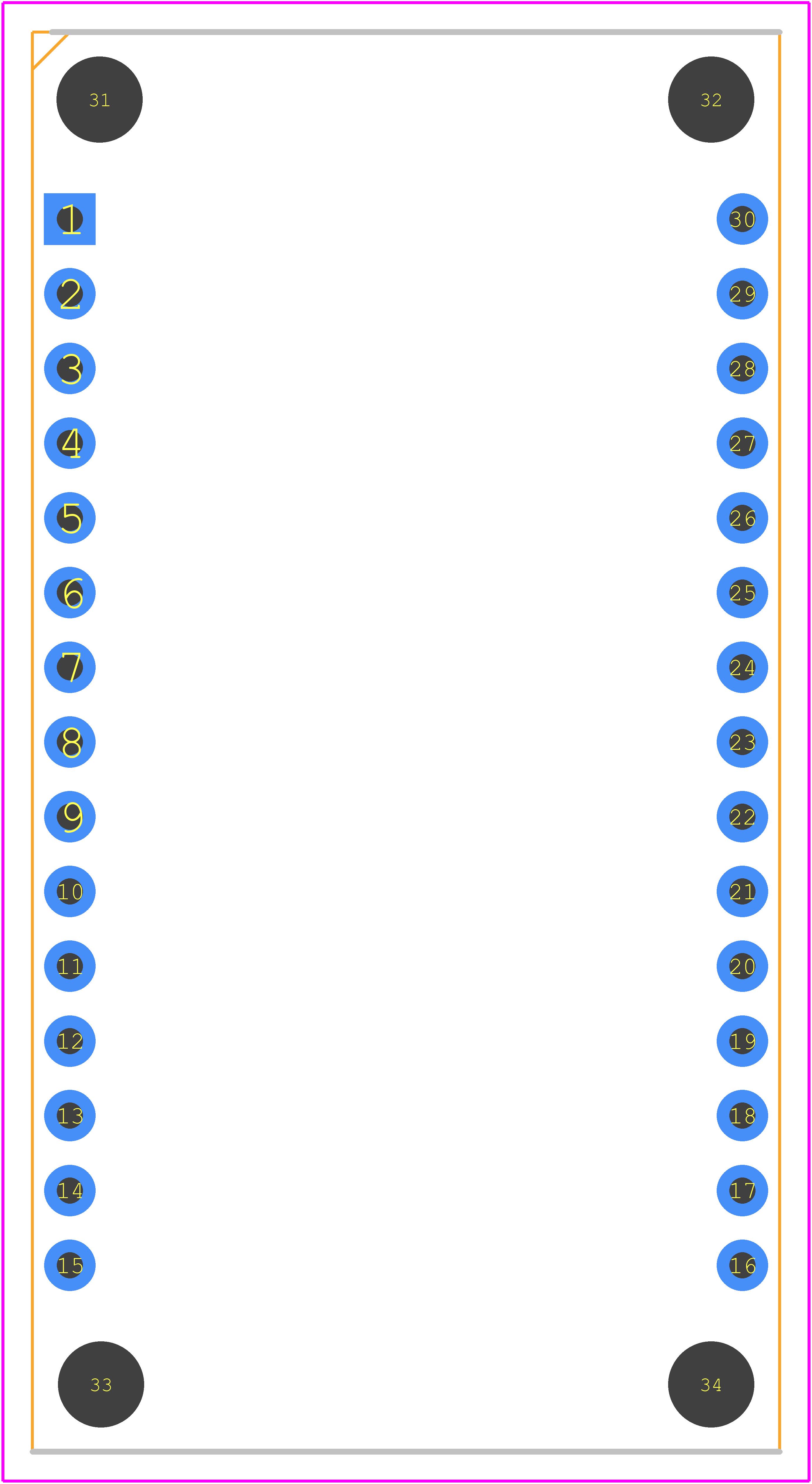 113990105 - Seeed Studio PCB footprint - Dual-In-Line Packages - NodeMCU V1.0