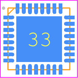 PCB Footprint for ATMEGA16U2-MU