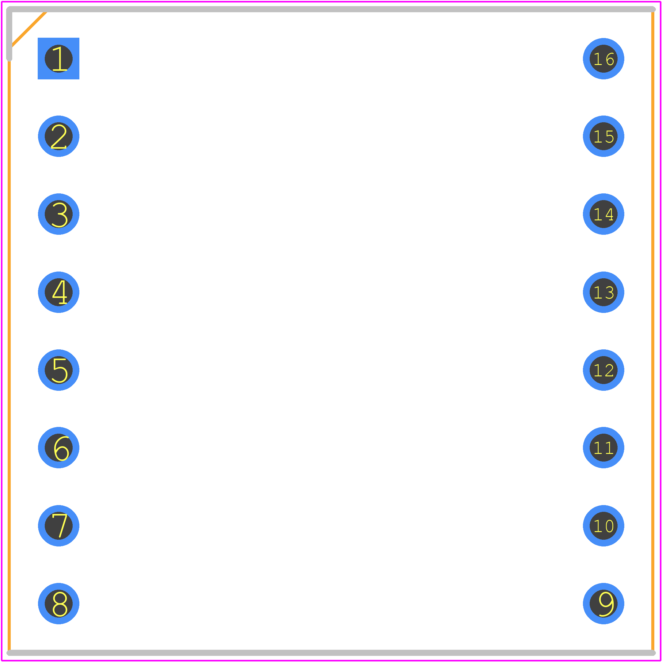 DFR0299 - DFRobot PCB footprint - Dual-In-Line Sockets - MP3-TF-16P